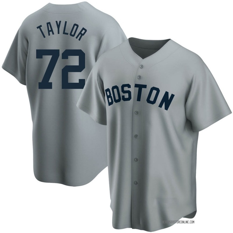 Men's Josh Taylor Boston Red Sox Replica Gray Road Cooperstown Collection Jersey