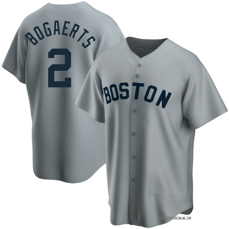 Men's Xander Bogaerts Boston Red Sox Replica Gray Road Cooperstown Collection Jersey