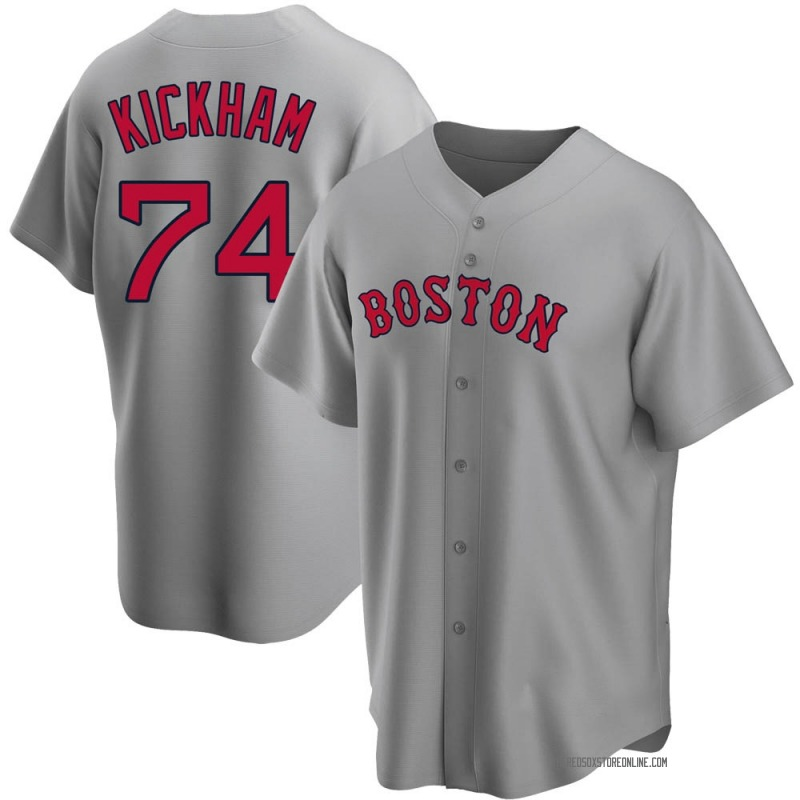 Youth Mike Kickham Boston Red Sox Replica Gray Road Jersey