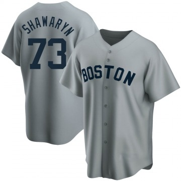 Youth Mike Shawaryn Boston Red Sox Replica Gray Road Cooperstown Collection Jersey