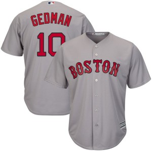 Men's Majestic Rich Gedman Boston Red Sox Authentic Gray Cool Base Road Jersey