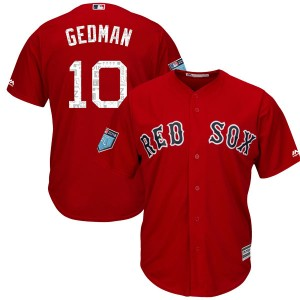 Men's Majestic Rich Gedman Boston Red Sox Authentic Red Cool Base 2018 Spring Training Jersey