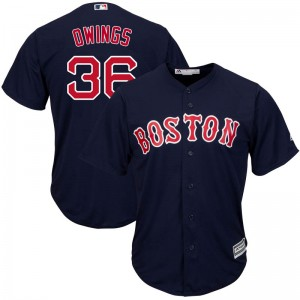 Men's Majestic Chris Owings Boston Red Sox Replica Navy Cool Base Alternate Collection Jersey