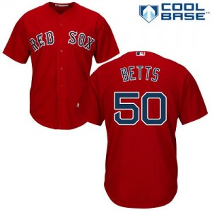 Men's Majestic Mookie Betts Boston Red Sox Authentic Red Alternate Home Cool Base Jersey